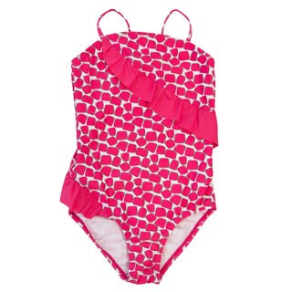 DownEast Basics Girls' Sliding Ruffle One Piece Swimsuit