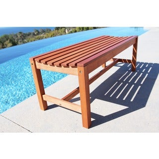 Malibu Eco-friendly 4-foot Backless Outdoor Hardwood Garden Bench