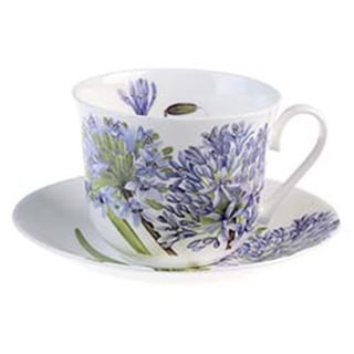Roy Kirkham Agapanthus Breakfast Cups/ Saucer (Set of 2) 17280570