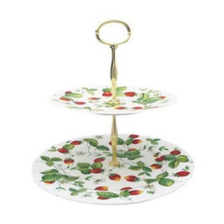 Roy Kirkham Alpine Strawberry 2-tier Cake Stand