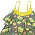 DownEast Basics Girls' Lemon Tiered Ruffle Tankini Swimsuit