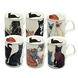Roy Kirkham Lancaster Cats Galore Mugs (Set of 6)