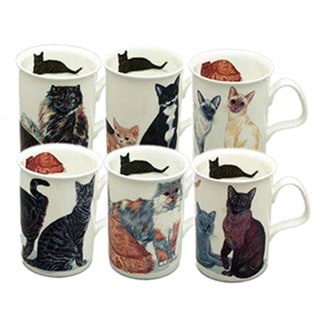 Roy Kirkham Lancaster Cats Galore Mugs (Set of 6)