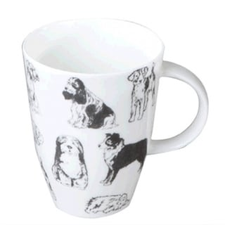 Roy Kirkham Louise Boundless Dogs Mugs (Set of 6)