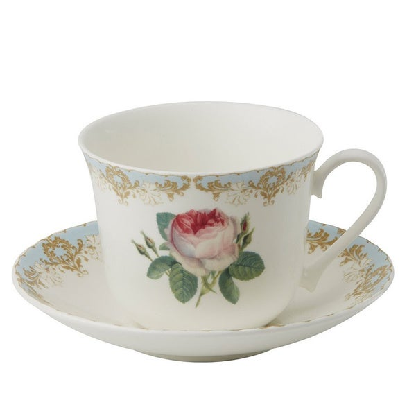 Roy Kirkham Vintage Roses Breakfast Cups/ Saucer (Set of 2) 17281033