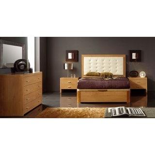 Luca Home Cherry 3-piece Queen Bedroom Set