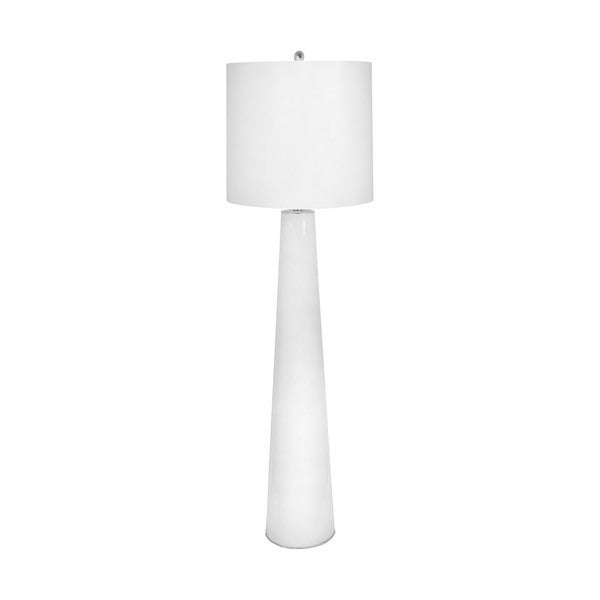 Lamp Works White Obelisk Floor Lamp With Night Light