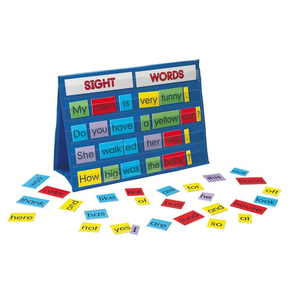 LAURI Tabletop Pocket Chart Sight Words