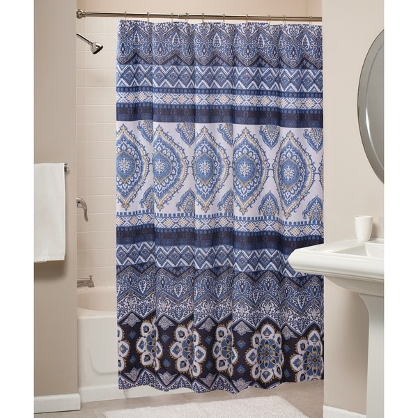 Medina Indigo Shower Curtain