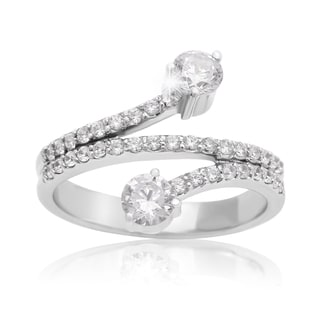 14k White Gold 3/4ct TDW Two Diamond Plus Ring (I-J I1-I2)
