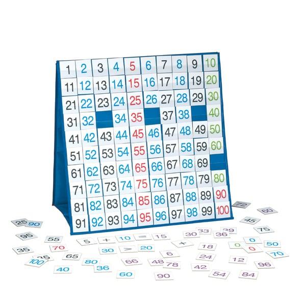 LAURI Tabletop Pocket Chart 100 Board