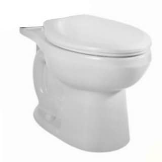 American Standard H2Option White Right Height Round Front Siphon Dual Flush Bowl