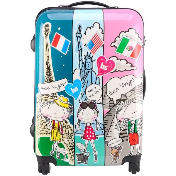 Hablando Sola Journey 22-inch Fashion Hardside Carry On Spinner Suitcase