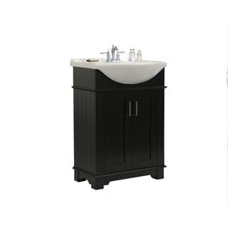 Legion Furniture 24-inch Espresso Single Sink Bathroom Vanity