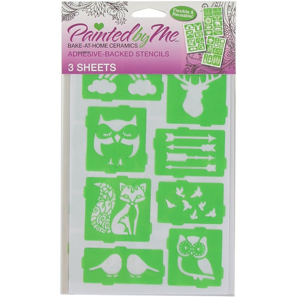 Painted By Me (TM) Bake At Home Stencils 3/Pkg Miscellaneous
