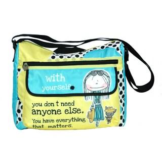 Hablando Sola Polka Dot Messenger Style Tote Bag