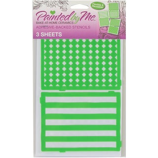 Painted By Me (TM) Bake At Home Stencils 3/Pkg Patterns