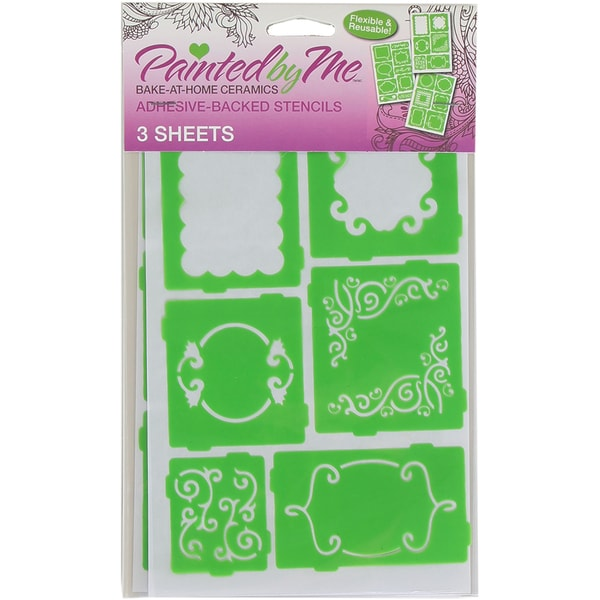Painted By Me (TM) Bake At Home Stencils 3/Pkg Frames