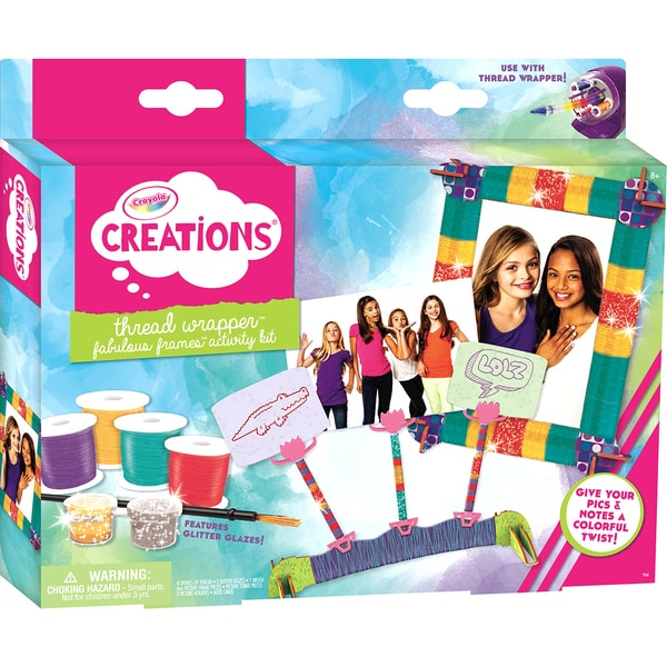 Crayola Creations Thread Wrapper Activity Kit Fabulous Frames