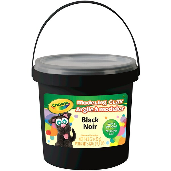Crayola Modeling Clay 15oz Black