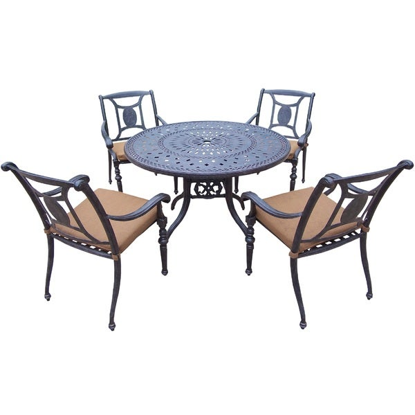 Oakland Living Sunbrella Aluminum 5-Piece Dining Set includes