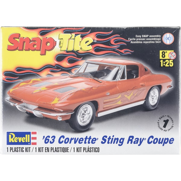 Plastic Model Kit '63 Corvette Sting Ray Coupe 1:25