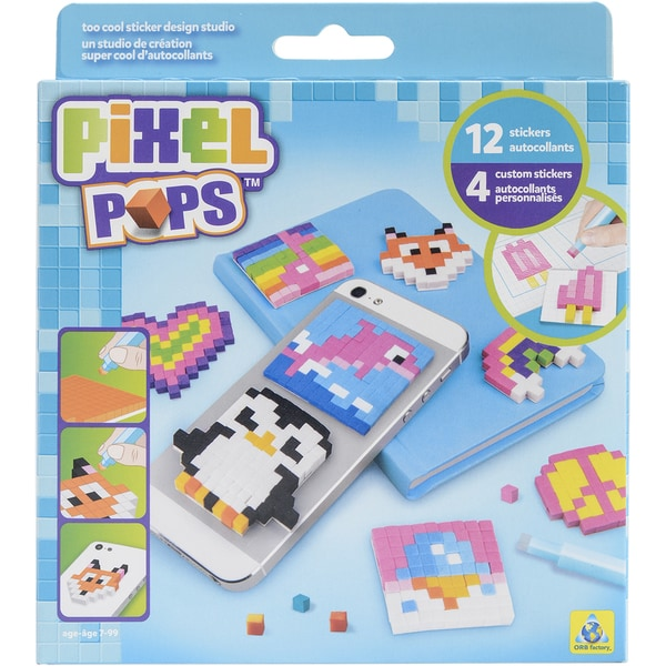 Pixel Pops Sticker Design Studio Kits Too Cool
