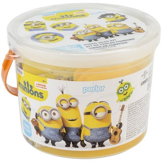 Perler Fused Bead Bucket Minions