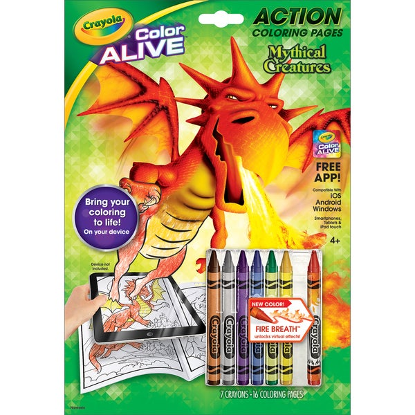 Crayola Color Alive Action Coloring Pages Mythical Creatures