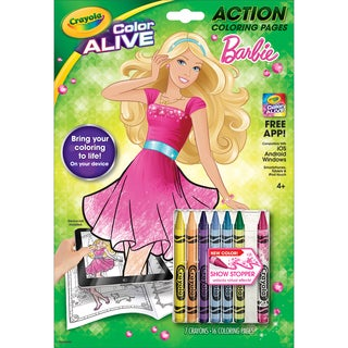 Crayola Color Alive Action Coloring Pages Barbie