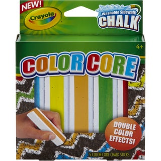 Crayola Color Core Washable Sidewalk Chalk Assorted Colors 5/Pkg