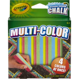 Crayola Multi Color Washable Sidewalk Chalk 5/Pkg
