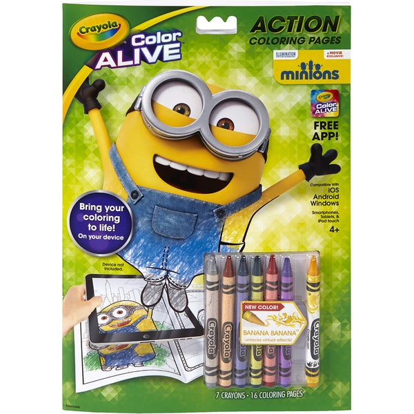 Crayola Color Alive Action Coloring Pages Minions