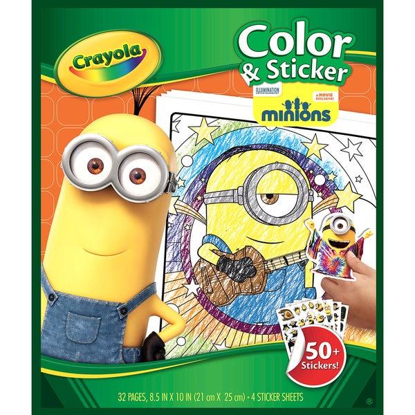 Crayola Color & Sticker Book Minions