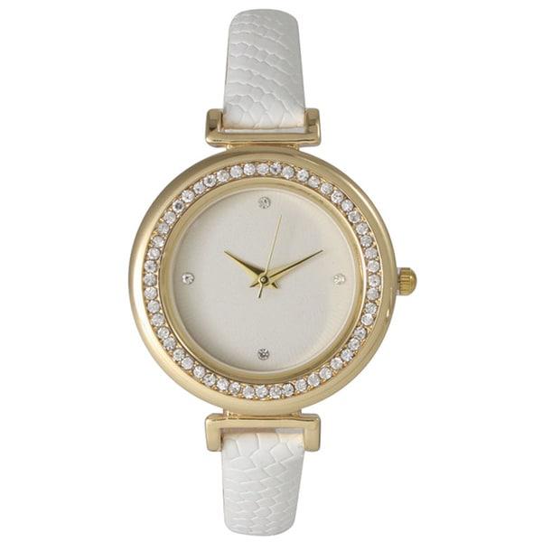 Olivia Pratt Petite Classic Rhinestone Cuff Watch