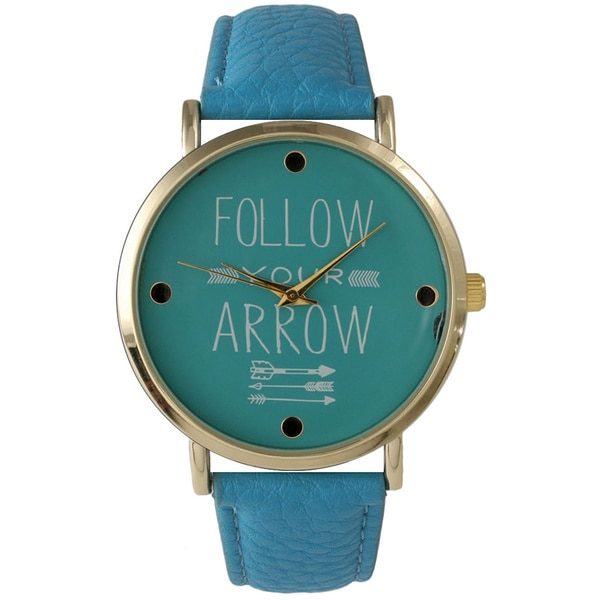 Olivia Pratt Follow Your Arrow Leather Watch