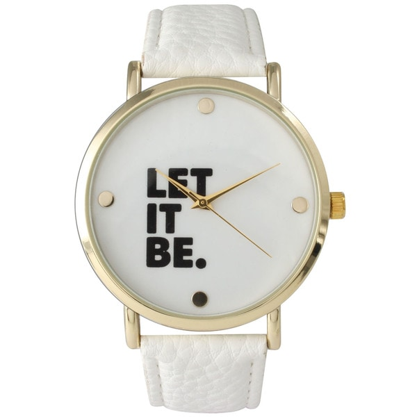 Olivia Pratt Let It Be Leather Watch