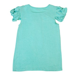 DownEast Basics Girls' Pull-Over Top with Sleeve Detail