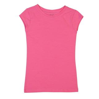 DownEast Basics Girls' Short Sleeve Scoop T-shirt
