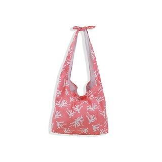 All For Color Sea Coral Knot Hobo Bag