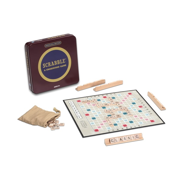 Scrabble Board Game Nostalgia Edition Game Tin