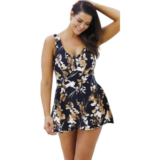 Beach Belle Brown Eyed Girl V-Neck Swimdress