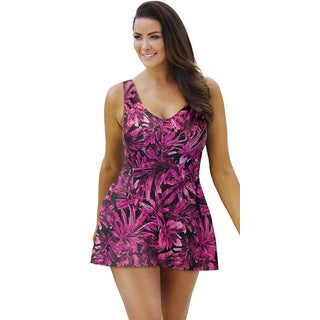 Beach Belle Palm Garden V-Neck Swimdress