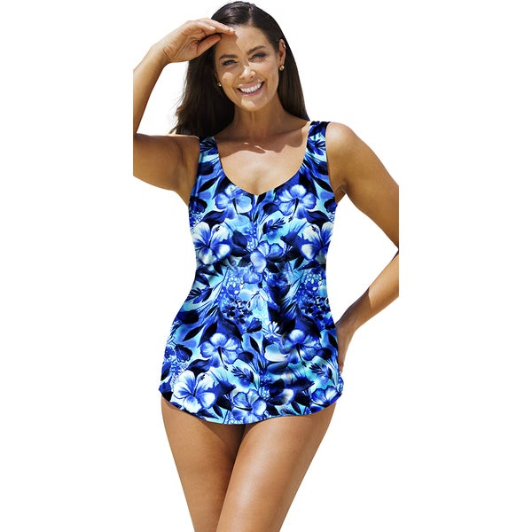 Beach Belle High Tide Sarong Front Swimsuit