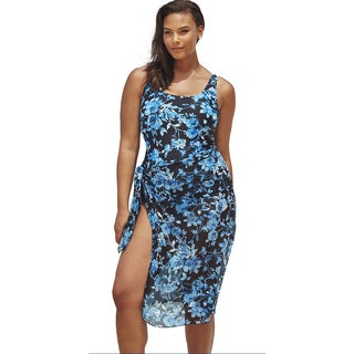 Beach Belle Deep Sea Swimsuit with Sarong