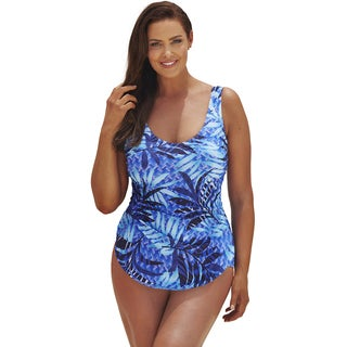 Beach Belle Cayman Plus Size Sarong Front Swimsuit