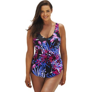 Beach Belle St. Lucia Plus Size Sarong Front Swimsuit