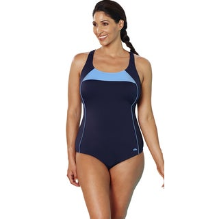Aquabelle Xtra Life Lycra Cornflower Border Crossback Swimsuit