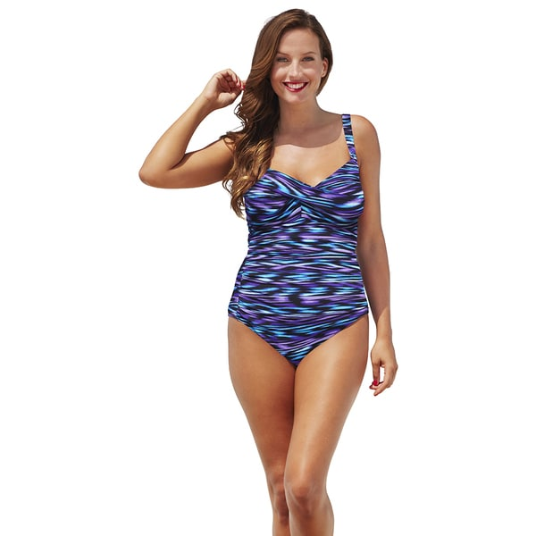 Shore Club Coastlines Twist-Front Swimsuit 17283123