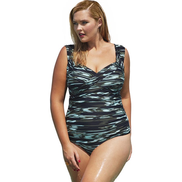 Tropiculture Digital Wave Crossover Swimsuit